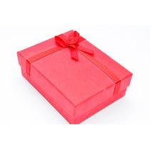 Caixinha Porta Jóias Brinco Colar Pulseira Anel Vermelha