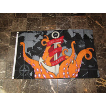 Bandera Pirata De Davy Jones Kraken 150x90 Piratas De Caribe
