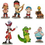 Jake Playset Piratas Adorno Torta O Jugar 7 Figuras