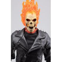 Ghost Rider 1/6 Hot Toys Marvel Motoqueiro Fantasma Boneco