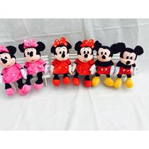 Minie Rosa Ou Vermelho Ou Mickey Kit Com 10
