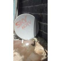 Antena Sky Pré Pago Com Aparelho E Controle E 15m De Cabo