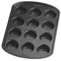 Molde De Muffins Mini X 12 Antiadherente Wilton