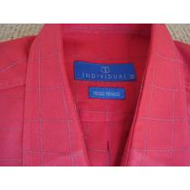 Camisa Individual Manga Curta Vermelha Quadriculada-linda