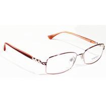 Armação Para Oculos Grau Luxottica Lu2272-b T359 Vermelho