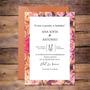FLOWER ELEGANT (Tarjeta Principal de 10x15cm + tarjeta SAVE THE DATE 7x5 cm + Circulo cierra sobre + Sobre perlado color a elección)