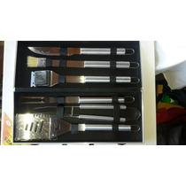 Set De Asado Para Parrilla Maletin Aluminio 6 Piezas
