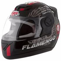 Capacete Evolution Moto Flamento 58 Preto/vermelho