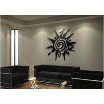 Mandala Arabesco Escultura Mdf Cru Decoração Artesanato 90cm