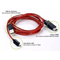 Cable Mhl Micro Usb Hdmi Sony Xperia,z3 Samsung S3.s4 Tablet