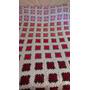 Manta Cubrecama Artesanal Tejido Al Crochet-2 Plazas Y Media