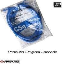 40 Un.patch Cord Utp Cat5e Furukawa 1,5m Azul Multilan -rj45