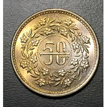 Pak004 Moneda Pakistán 50 Paisa 1984 Unc-bu Ayff
