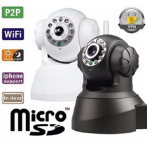 Câmera Ip Ir Wireless Visão Noturna - Frete Grátis