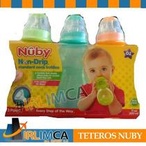 Teteros Nuby Set 3 Nuby Natural 11oz Irlimca + Regalo