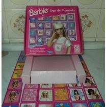 Jogo Antigo De Memoria Da Barbie Dec.90 Grow (g05)
