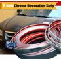 Moldura Bagueta Adhesiva Decora Auto 4x4 Gris 12 Mmx6 Mts
