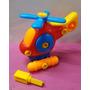 Helicoptero Para Armar Y Desarmar Con Tornillos 15x14cm