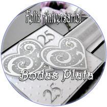 Kit Imprimible Aniversario Bodas 25 Años Bodas Plata