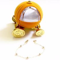 Pulseira Ouro 18k Bolinha Recem Nascido Embalagem Luxo