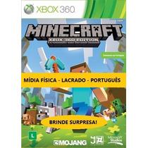 Minecraft Xbox 360 Mídia Física Lacrado 100% Português C/ Nf