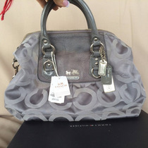 Exclusiva Cartera Marca Coach (original) Color Plata/gris