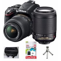 Câmera Digital Nikon D3300 Lente 18-55mm +bolsa +tripé +32gb