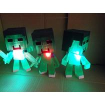 Maincraft Cabezones Con Luz Modelos Con Espada Zombie Steve