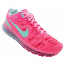 Tênis Feminino Nike Air Max 2013 Rosa E Verde Água + Frete