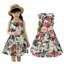 Vestido Niña Floreado Tallas 5 6 7 8 9 10