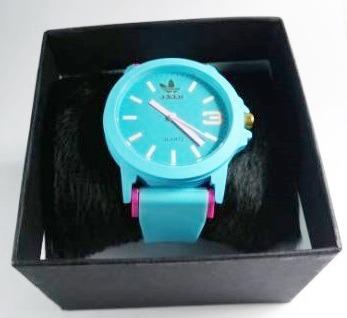 ed8177e5fcd Relógio adidas Coloridos Unissex Lindo Lançamento Azul+caixa - R  35 ...