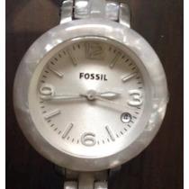 Reloj Fossil Original,blanco,dama,envio Gratis,como Nuevo