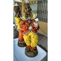 Clown Payasos Resina Escultura Figura Decoración Interiores