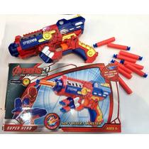 Lançador Dardos Soft Arma Avengers Spider-man Compat. Nerf
