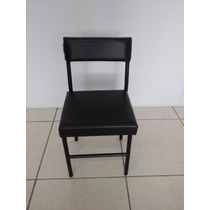Cadeira Baixa Pequena Manicure Preto Tamanho P