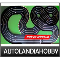 Pista Autos Scalextric 4 Vias 18mt Recorrido Nuevo Modelo