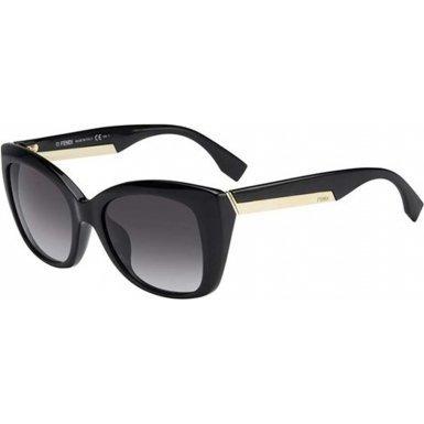 Lente Negro Fendi Sol Gafas 0019s Con Marco Dorad Negro De wqPawRI 770491957630