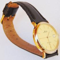 Relógio Mido Suíço Dreamline Quartz Ouro Maciço Vidro Safira