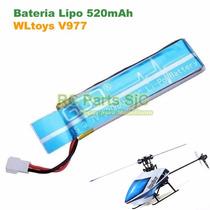 Bateria Lipo 1s 3.7v 520mah Para Helicoptero V977 Wltoys