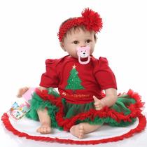 Bebe Reborn De Silicone Para Natal Muito Real 55 Cm Promoção