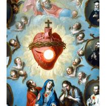 Lienzo Tela Sagrado Corazón De Jesús 60 X 50 Cm Arte Sacro