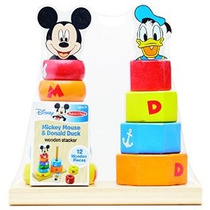 Disney Baby Mickey Mouse Y El Pato Donald Apilador De Madera