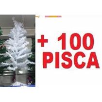 Árvore De Natal Pinheiro Branco 1,20m Completa - Promoção!!!