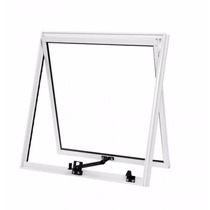 Maxim Ar 0,80 X 0,80 Alumínio Branco Vidro Mini Boreal