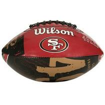 Envio Gratis! Nfl Balón Colegial Wilson San Francisco 49ers