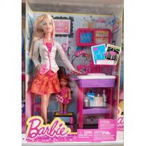 Boneca Barbie Profissões Quero Ser Pediatra Mattel