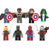 Set Sw2 Civil War Pantera Negra She Hulk Compatible Con Lego