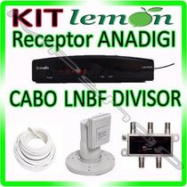 Kit Receptor Parabolica + Lnbf Multiponto + Divisor + Cabo