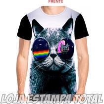 Camiseta Gato 3d-camisa Gato-camisa Estampa Total