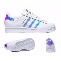 Tenis Superstar Tornasol Iridecent Originales Adidas En Grat